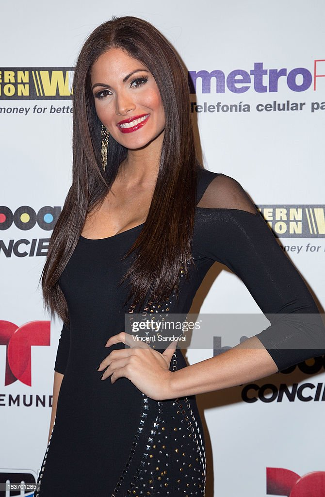 Actress <a gi-track='captionPersonalityLinkClicked' href=/galleries/search?phrase=Cynthia+Olavarria&family=editorial&specificpeople=868810 ng-click='$event.stopPropagation()'>Cynthia Olavarria</a> attends Billboard In Concert Series presents Calibre 50 at The Conga Room at The Conga Room at L.A. Live on October 8, 2013 in Los Angeles, California.