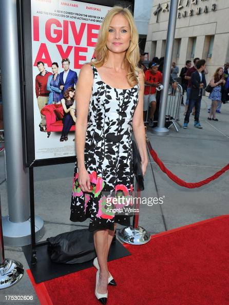 Actress Cynthia Preston arrives at the Screening of Magnolia Pictures' 'I Give It A Year' at ArcLight Hollywood on August 1 2013 in Hollywood...