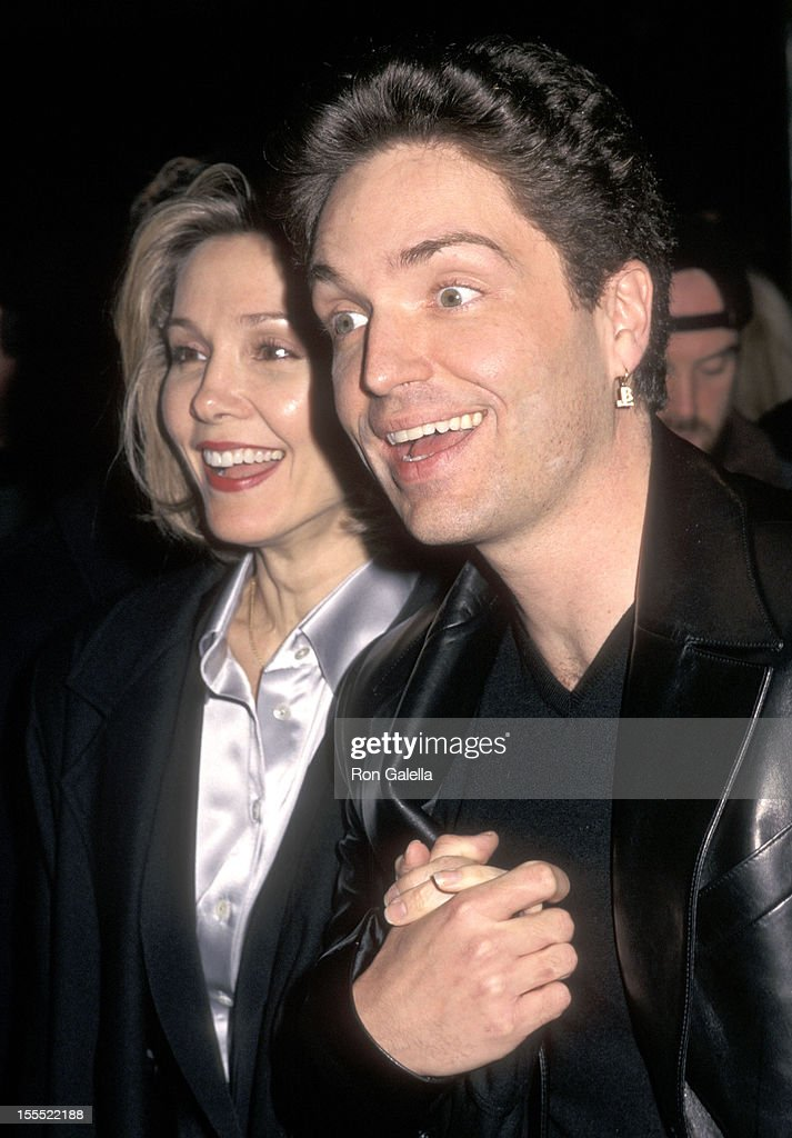 Actress cynthia rhodes and musician richard marx attend the anastasia