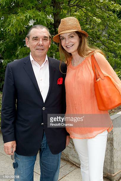 Actress Cyrielle Clair and companion Michel Corbiere sighting at Roland Garros Tennis French Open 2013 Day 14 on June 8 2013 in Paris France