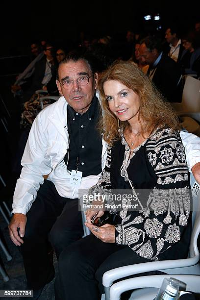 Actress Cyrielle Clair and her husband President of Forest Hill Michel Corbiere attend the 'La Boheme Opera en Plein Air' Premiere at Les Invalides...