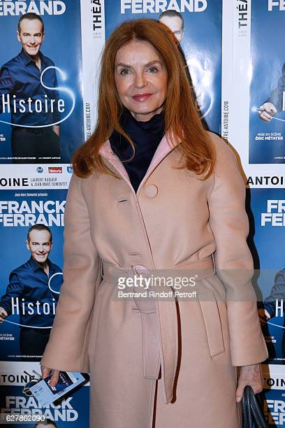 Actress Cyrielle Clair attends Franck Ferrand performs in his Show 'Histoires' at Theatre Antoine on December 5 2016 in Paris France