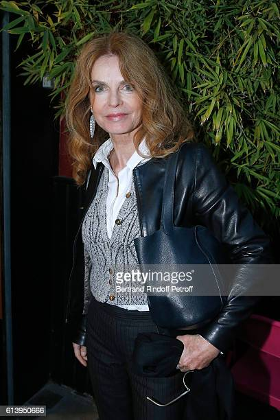 Actress Cyrielle Clair attends the 'Ivo Livi ou le destin d'Yves Montand' Theater Play at Theatre de la Gaite Montparnasse on October 11 2016 in...