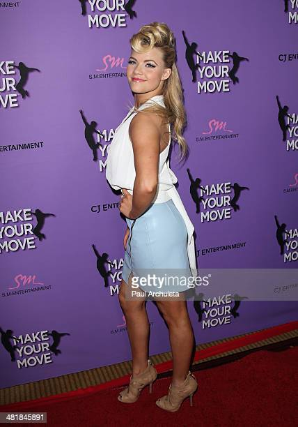 Actress / Dacer Witney Carson attends the premiere of 'Make Your Move' at the Pacific Theaters at the Grove on March 31 2014 in Los Angeles California