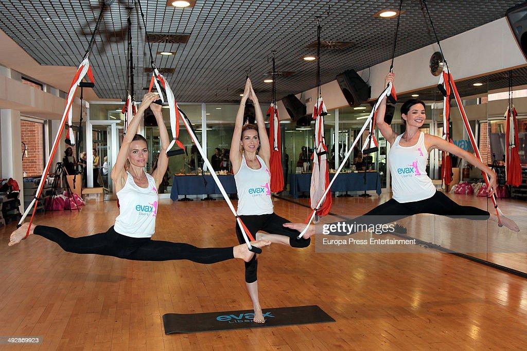 Celebrities Attend Yoga Air Masterclass