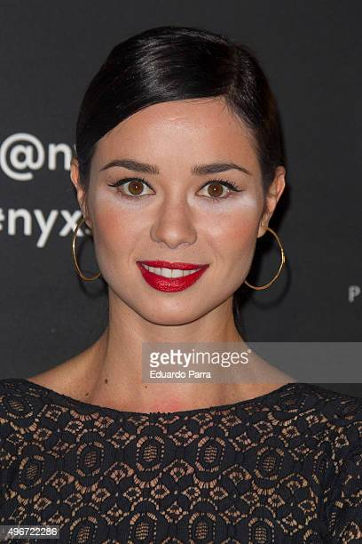 Actress Dafne Fernandez attends NYX Make Up party photocall at Chamartin space on November 11 2015 in Madrid Spain