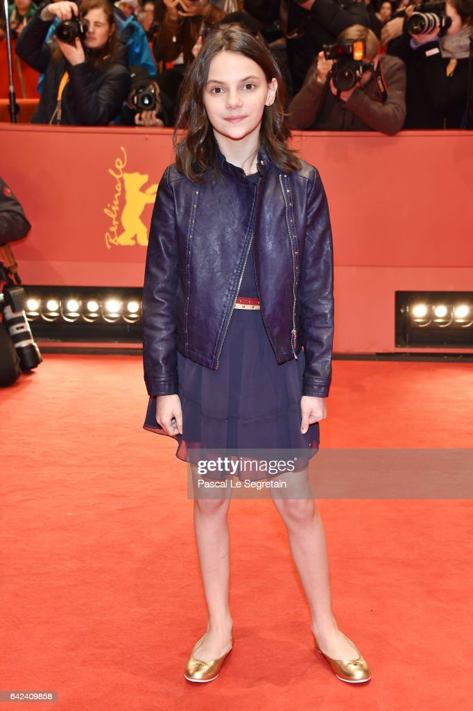 Actress Dafne Keen attends the 'Logan' premiere during the 67th Berlinale International Film Festival Berlin at Berlinale Palace on February 17, 2017 in Berlin, Germany.