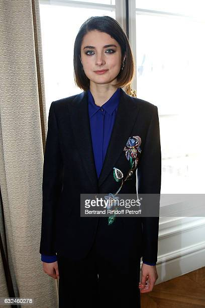 Actress Daisy Bevan attends the Schiaparelli Haute Couture Spring Summer 2017 show as part of Paris Fashion Week on January 23 2017 in Paris France