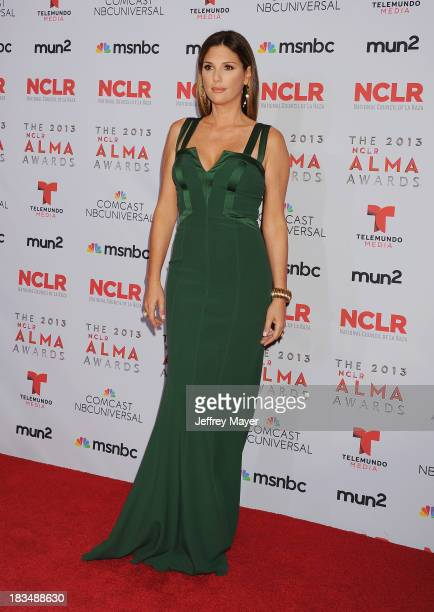 Actress Daisy Fuentes poses in the press room at the 2013 NCLA ALMA Awards at Pasadena Civic Auditorium on September 27 2013 in Pasadena California