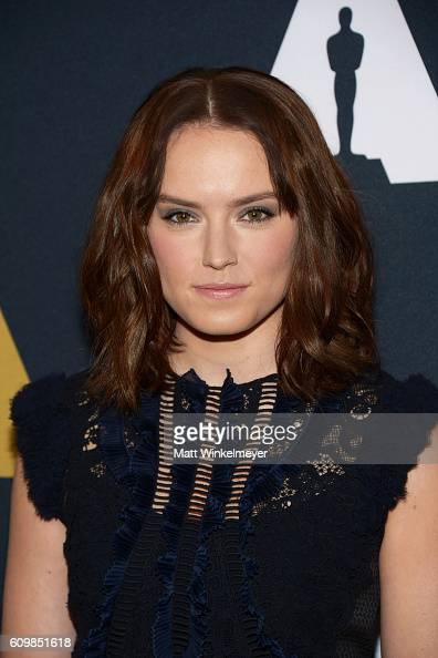 Actress Daisy Ridley arrives at the Academy Of Motion Picture Arts And Sciences 43rd Student Academy Awards at Samuel Goldwyn Theater on September 22...