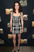 Actress Daisy Ridley attends the 2016 MTV Movie Awards at Warner Bros Studios on April 9 2016 in Burbank California MTV Movie Awards airs April 10...