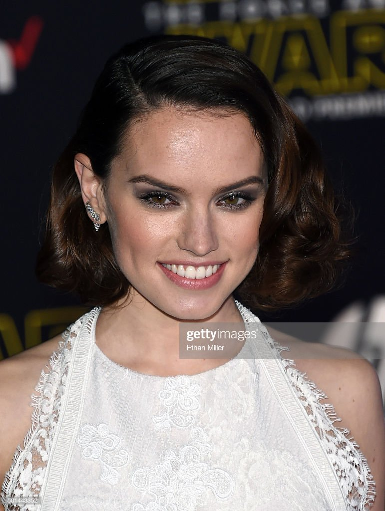 Actress Daisy Ridley attends the premiere of Walt Disney Pictures and Lucasfilm's 'Star Wars The Force Awakens' at the Dolby Theatre on December 14...