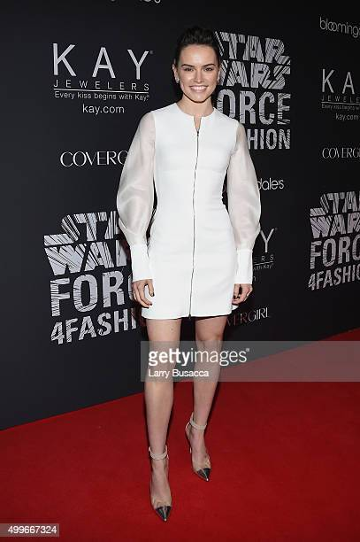 Actress Daisy Ridley attends the Star Wars 'Force 4 Fashion' Event on Dec 2 at the Skylight Modern in NYC Top designers showcased bespoke looks...