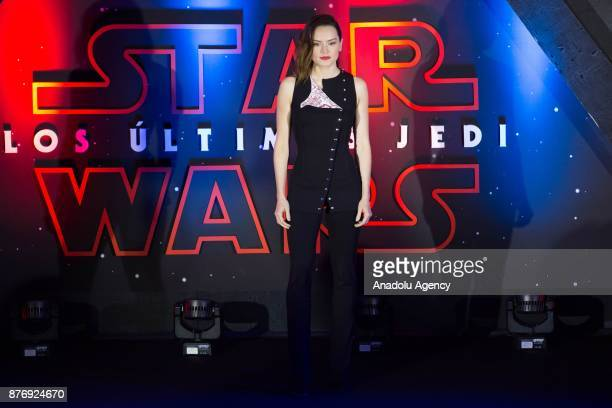 Actress Daisy Ridley attends the 'Star Wars The Last Jedi' premiere at Oasis shopping mall in Mexico City Mexico on November 20 2017