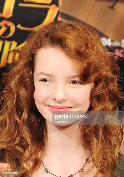 Actress Dakota Blue Richards attends 'The Golden Compass' press conference at The Peninsula Tokyo on February 20 2008 in Tokyo Japan