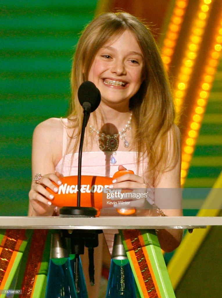 Actress Dakota Fanning accepts the 'Favorite Female Movie Star' award onstage during the 20th Annual Kid's Choice Awards held at the UCLA Pauley...