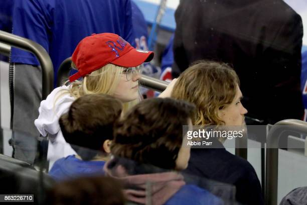 Actress Dakota Fanning attends a New York Rangers vs New York Islanders game at Madison Square Garden on October 19 2017 in New York City
