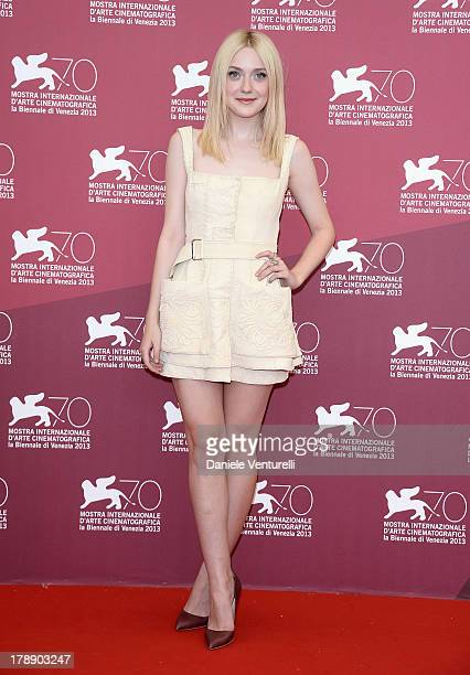 Actress Dakota Fanning attends 'Night Moves' Photocall during the 70th Venice International Film Festival at Palazzo del Casino on August 31 2013 in...