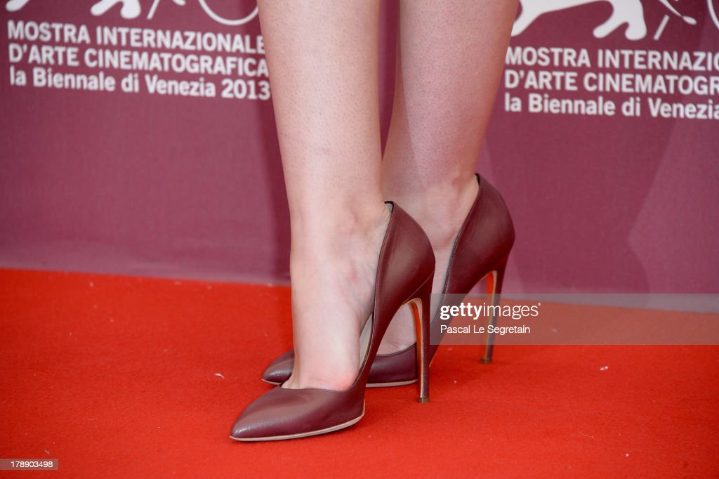 Actress Dakota Fanning (shoe detail) attends 'Night Moves' Photocall during the 70th Venice International Film Festival at the Palazzo del Casino on August 31, 2013 in Venice, Italy.