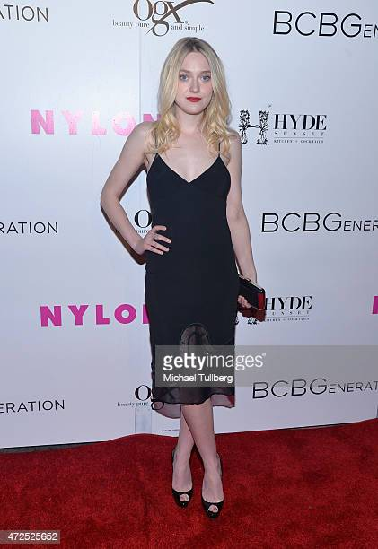 Actress Dakota Fanning attends NYLON Magazine and BCBGeneration's Annual May Young Hollywood Issue Party at HYDE Sunset Kitchen Cocktails on May 7...