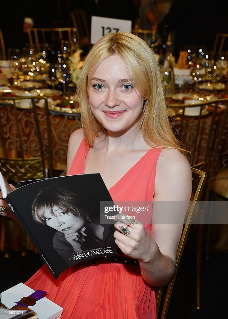Actress Dakota Fanning attends the 40th AFI Life Achievement Award honoring Shirley MacLaine held at Sony Pictures Studios on June 7, 2012 in Culver City, California. The AFI Life Achievement Award tribute to Shirley MacLaine will premiere on TV Land on Saturday, June 24 at 9PM ET/PST.