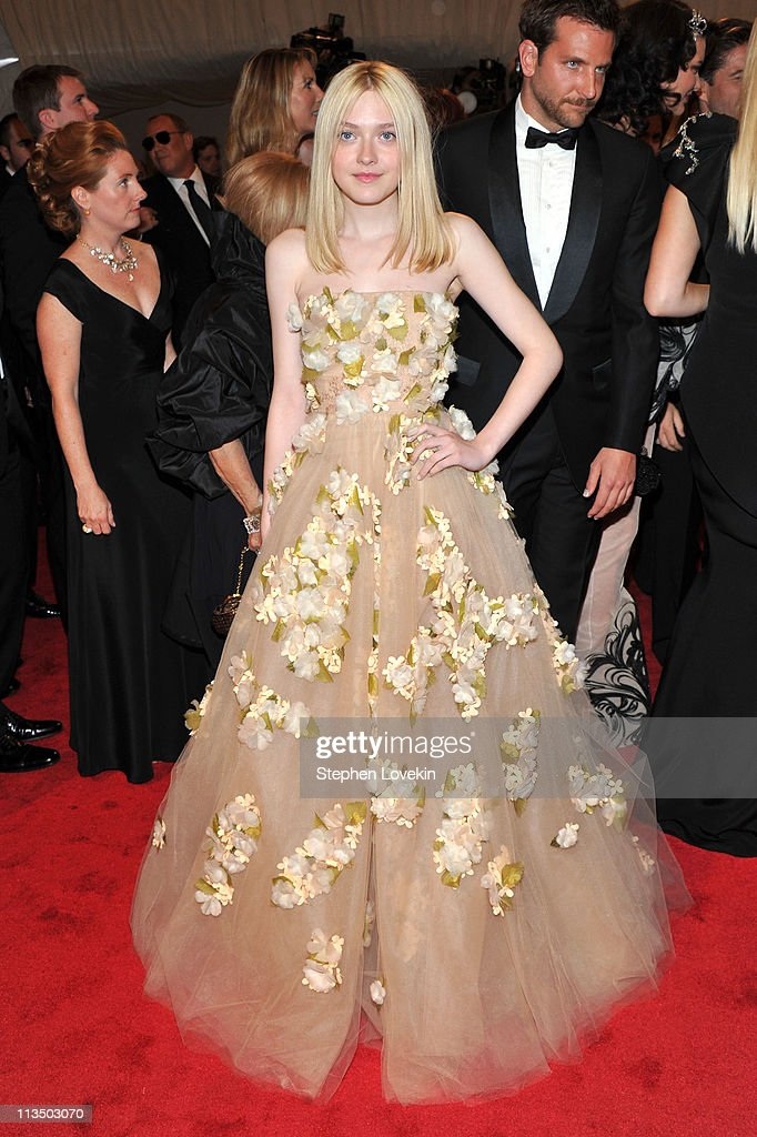 Actress Dakota Fanning attends the 'Alexander McQueen: Savage Beauty' Costume Institute Gala at The Metropolitan Museum of Art on May 2, 2011 in New York City.