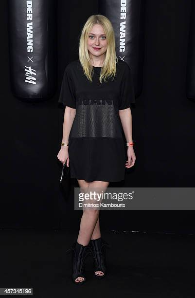 Actress Dakota Fanning attends the Alexander Wang X HM Launch on October 16 2014 in New York City