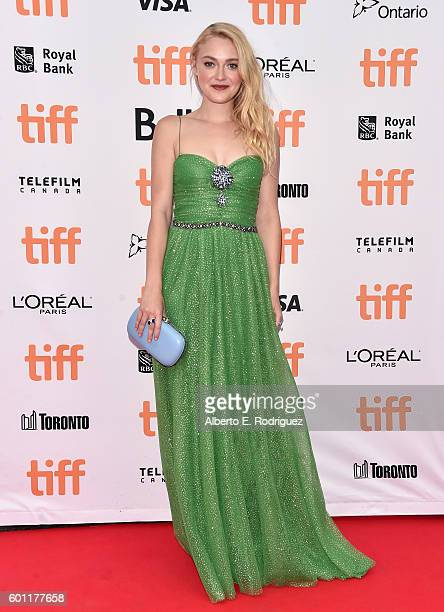 Actress Dakota Fanning attends the 'American Pastoral' premiere during the 2016 Toronto International Film Festival premiere at Princess of Wales...