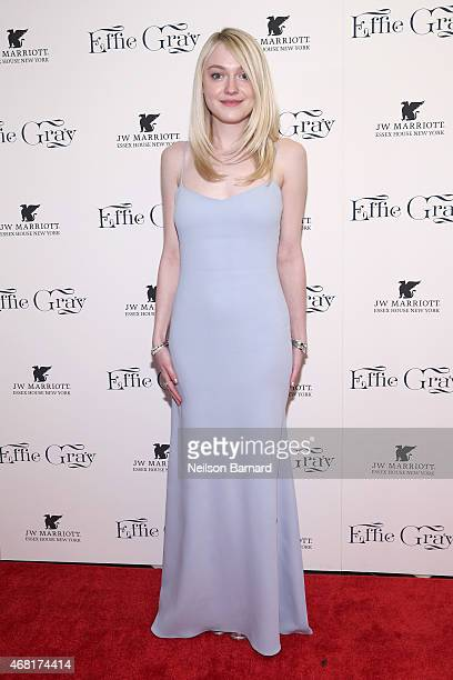 Actress Dakota Fanning attends the 'Effie Gray' New York Premiere at The Paris Theatre on March 30 2015 in New York City