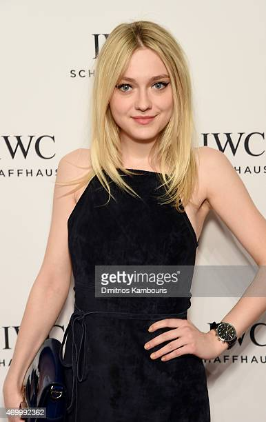 Actress Dakota Fanning attends the IWC Schaffhausen Third Annual 'For the Love of Cinema' Gala during the Tribeca Film Festival on April 16 2015 in...