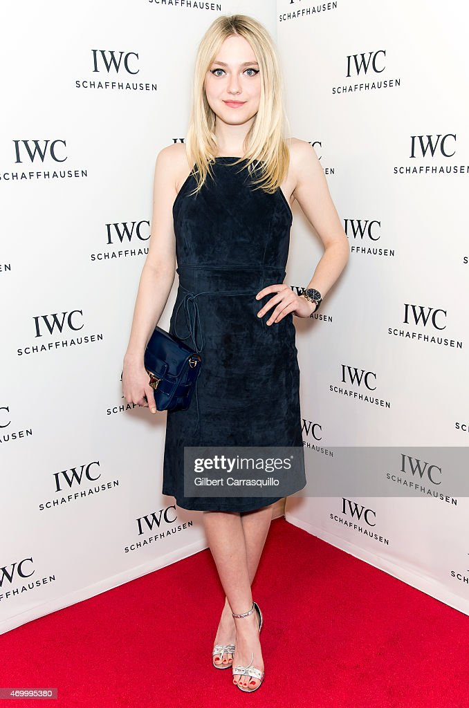 Actress Dakota Fanning attends the IWC Schaffhausen third annual 'For the Love of Cinema' dinner during Tribeca Film Festival at Spring Studios on April 16, 2015 in New York City.