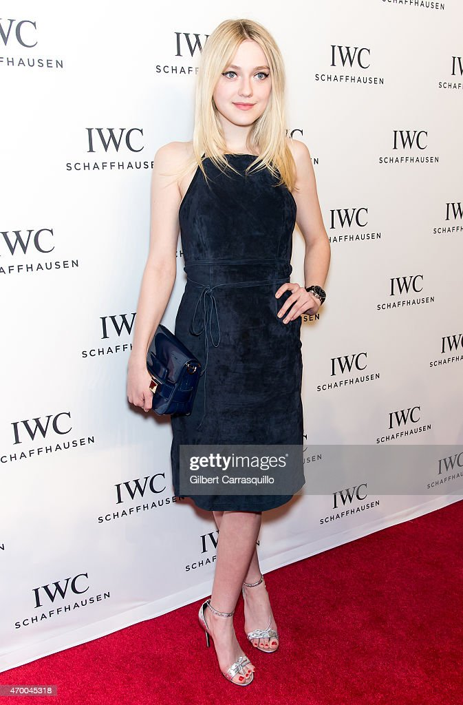 Actress Dakota Fanning attends the IWC Schaffhausen third annual 'For the Love of Cinema' dinner during Tribeca Film Festival at Spring Studios on...