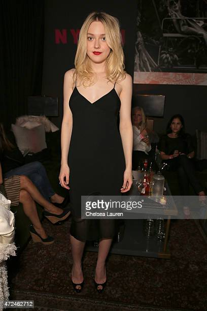 Actress Dakota Fanning attends the NYLON Young Hollywood Party presented by BCBGeneration at HYDE Sunset Kitchen Cocktails on May 7 2015 in West...