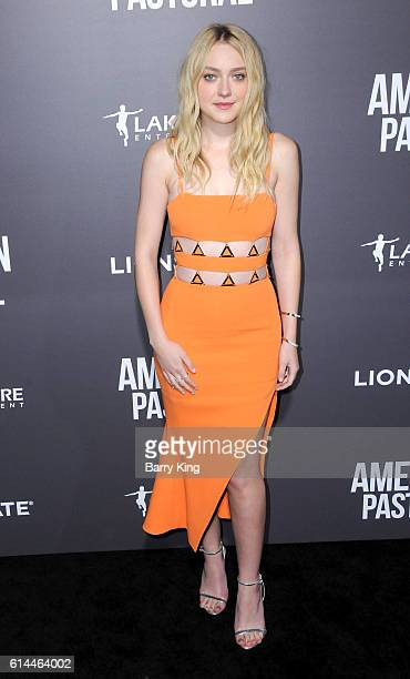 Actress Dakota Fanning attends the premiere of Lionsgate's' 'American Pastoral' at Samuel Goldwyn Theatre on October 13 2016 in Beverly Hills...