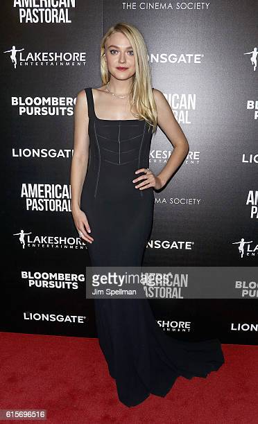 Actress Dakota Fanning attends the screening Of 'American Pastoral' hosted by Lionsgate and Lakeshore Entertainment with Bloomberg Pursuits at Museum...