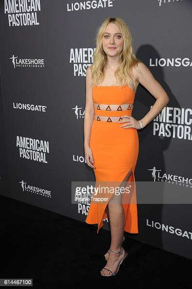 Actress Dakota Fanning attends the special screening of Lionsgate's 'American Pastoral' held at The Samuel Goldwyn Theater on October 13 2016 in...
