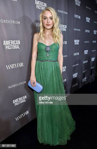 Actress Dakota Fanning attends the Vanity Fair Lionsgate and Nordstrom 'American Pastoral' celebration during the Toronto International Film Festival...
