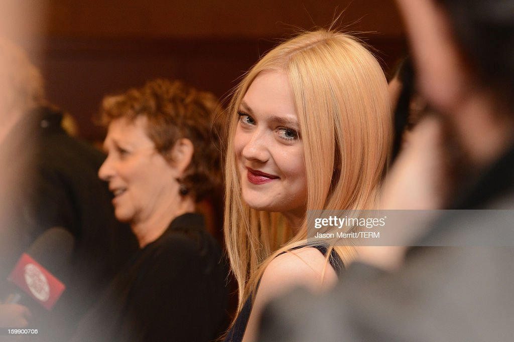 Actress Dakota Fanning attends the 'Very Good Girls' premiere at Eccles Center Theatre during the 2013 Sundance Film Festival on January 22, 2013 in Park City, Utah.
