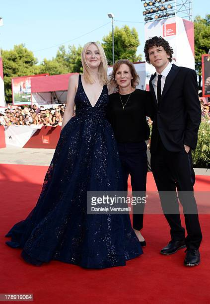 Actress Dakota Fanning director Kelly Reichardt and actor Jesse Eisenberg attend 'Night Moves' Premiere during the 70th Venice International Film...