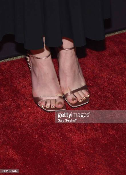 Actress Dakota Fanning shoe detail attends the 5th Annual Save The Children Illumination gala at The American Museum of Natural History on October 18...