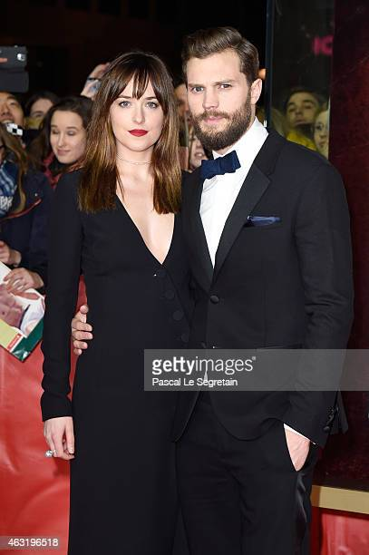 Actress Dakota Johnson and actor Jamie Dornan attend the 'Fifty Shades of Grey' premiere during the 65th Berlinale International Film Festival at Zoo...