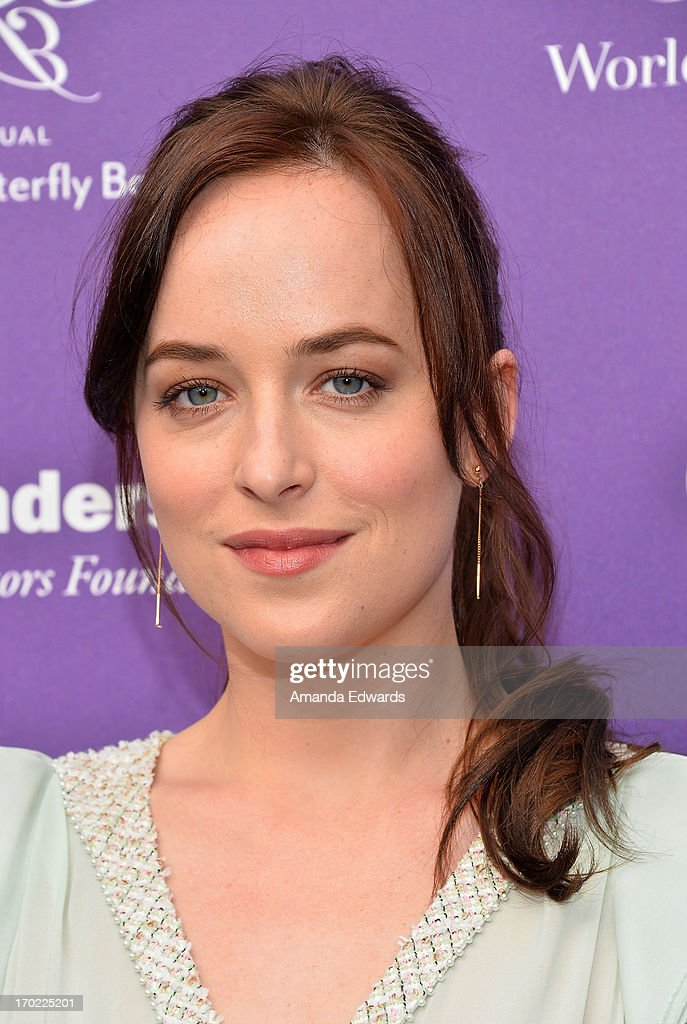 Actress <a gi-track='captionPersonalityLinkClicked' href=/galleries/search?phrase=Dakota+Johnson&family=editorial&specificpeople=2091563 ng-click='$event.stopPropagation()'>Dakota Johnson</a> arrives at the 12th Annual Chrysalis Butterfly Ball on June 8, 2013 in Los Angeles, California.