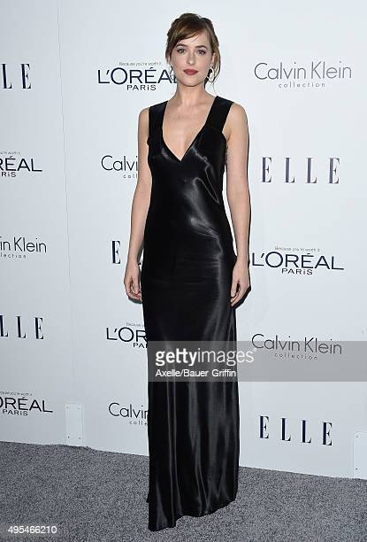 Actress Dakota Johnson arrives at the 22nd Annual ELLE Women In Hollywood Awards at Four Seasons Hotel Los Angeles at Beverly Hills on October 19...
