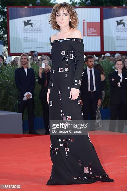 Actress Dakota Johnson attends a premiere for 'A Bigger Splash' during the 72nd Venice Film Festival at Sala Grande on September 6 2015 in Venice...