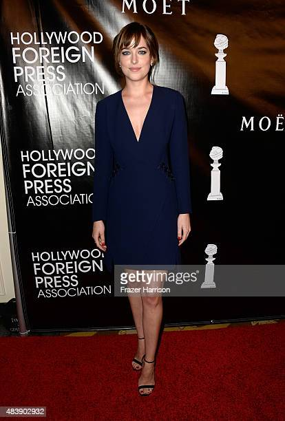 Actress Dakota Johnson attends HFPA Annual Grants Banquet at the Beverly Wilshire Four Seasons Hotel on August 13 2015 in Beverly Hills California