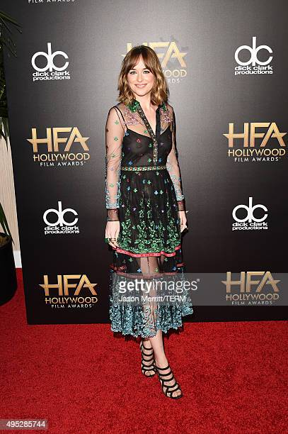 Actress Dakota Johnson attends the 19th Annual Hollywood Film Awards at The Beverly Hilton Hotel on November 1 2015 in Beverly Hills California