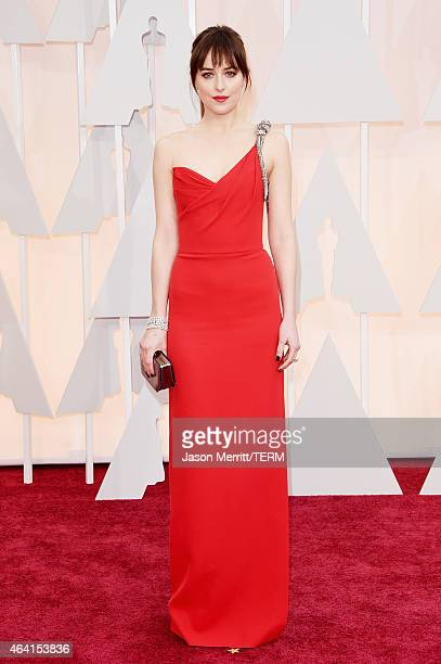 Actress Dakota Johnson attends the 87th Annual Academy Awards at Hollywood Highland Center on February 22 2015 in Hollywood California