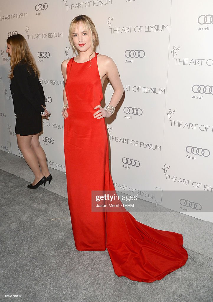 Actress Dakota Johnson attends The Art of Elysium's 6th Annual HEAVEN Gala presented by Audi at 2nd Street Tunnel on January 12, 2013 in Los Angeles, California.