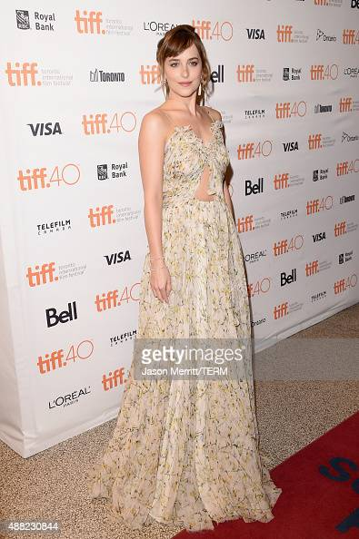 Actress Dakota Johnson attends the 'Black Mass' premiere during the 2015 Toronto International Film Festival at The Elgin on September 14 2015 in...