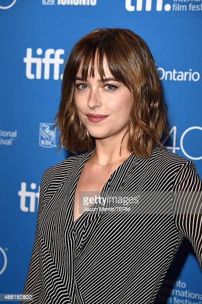 Actress Dakota Johnson attends the 'Black Mass' press conference at the 2015 Toronto International Film Festival at TIFF Bell Lightbox on September...